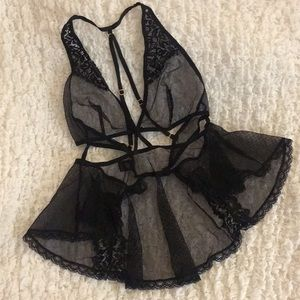 NWOT Victoria's Secret Mini Fishnet Lace Chemise